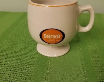 Hall China Sanka Coffee Cup Pedestal Mug