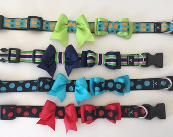 Dog Bow, Bow for dog and cat collar, Hand made in Australia, dog bow, cat bow, bow tie for dog, kitten bow, wedding dog, bow for dog