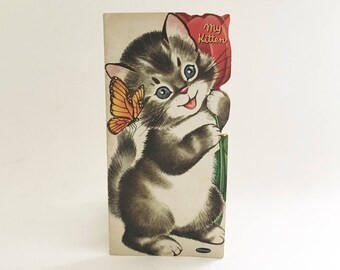 Kitten Book 1954 Childrens book My Kitten Whitman Publishing Softcover