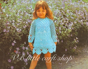 Child's dress crochet pattern. Instant PDF download!