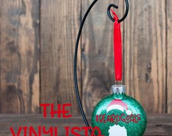 Santa Christmas Ornament #BEARDGOALS, santa hat and beard ornament, beardlife, gifts for guys, beard