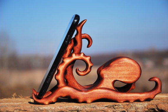 Wooden Octopus Docking Station