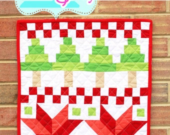 christmas quilt pattern instant download PDF pattern
