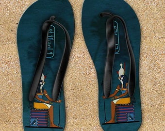"""Sandals """"Egyptian gods"""" -  personalized with your name in hieroglyphs"""