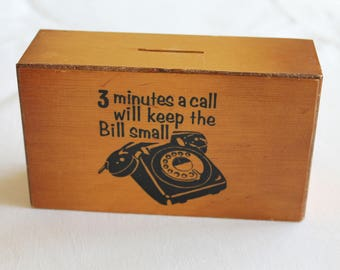 Vintage Telephone Call Money Box