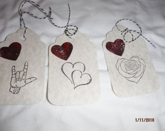 CHOICE of HEART tags,  -- set of 3 -- DreamscapesByCyn
