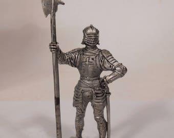 Tin, 54mm,  English Halberdier, 1513 year