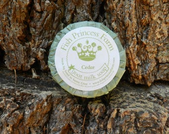 Cedar and Saffron Goat Milk Soap