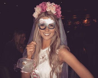 Floral Bridal Veil for a classier Hen Do