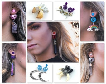 Front Back Earrings - Double Sided Earrings - Statement Earrings - Jewelry Gift For Women Double Pearl Ball Back Stud Large Dangle Colorful