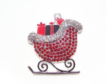 51mm Red Christmas Sleigh with Packages, P55