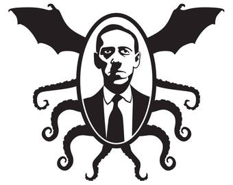 H.P. Lovecraft Cthulhu Frame Cosmic Horror vinyl decal sticker