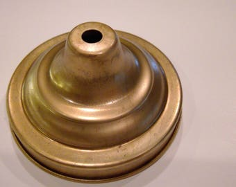 """Brass Sconce Back or lamp base  4 1/2"""" round for repair or building"""