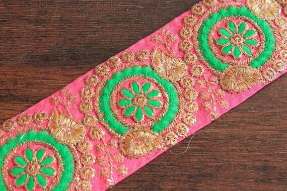 miao embroidery satin fabric lace trim 10cm denim dress collar ribbon tape  webbing ethnic tribal thai