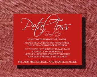 Custom Designed Wedding Petal Toss Send Off Sign