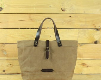 Lunch Bag tote waxed canvas/WAXED canvas reusable/Lunchbag with handle/lunchbox/Lunch bag/sac á lunch/snack bag.