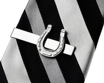 Good Luck Horseshoe Tie Clip