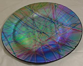 Handmade Fused Glass Dichroic Glass Platter