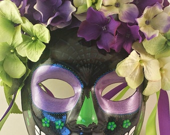 Black & Purple Day of The Dead Mask