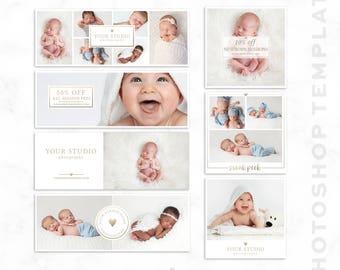Social Media Template - Facebook - Instagram - Sneak Peek - Photographer Marketing - Blog Template - Photoshop Template - Facebook Cover