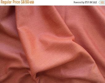 ON SALE rust cotton lurex fabric - msc053 - 1 yard