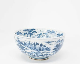 Japanese Bowl Fine Art Porcelain Kozan