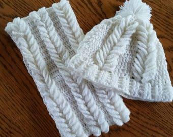 Crochet beanie and scarf