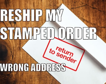 RESHIP My Stamped Order- Wrong Address - Order Returned to Bearded Flannel