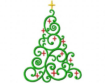 Christmas tree Embroidery Designs 7 Size Christmas Embroidery Machine Embroidery Designs Kid Embroidery  Pes - Instant Download