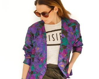 90s floral jacket UK size 10