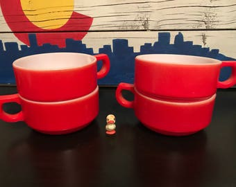 Red Soup Mugs