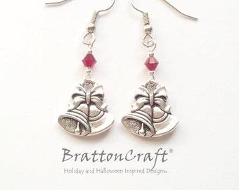 Silver Bells Earrings - Christmas Earrings - Christmas Jewelry - Holiday Earrings - Holiday Jewelry