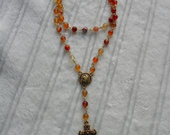 Agate and carnelian Rosary