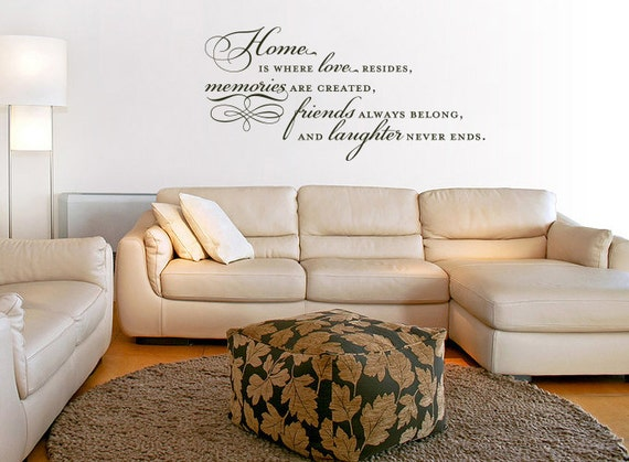 Home Is Where Love Resides Memories Are Created Vinyl Quote