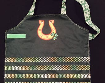 Luck O' the Irish St Patrick's Day waterproof toddler apron and art smock