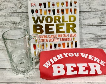 Fathers Day Gift Etched Beer Mug
