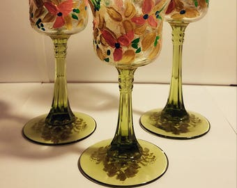 Hand Painted Tea Candle Holders! Set of 3!