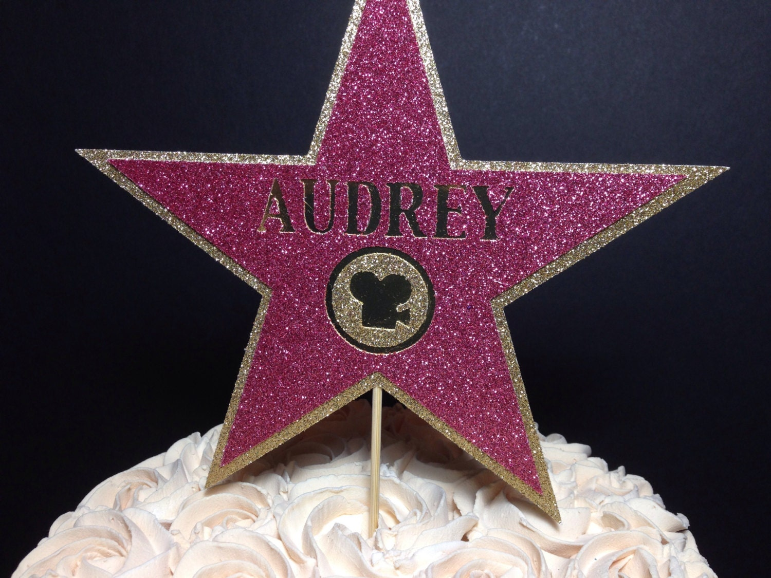 Hollywood Walk Of Fame Star Cake Topper