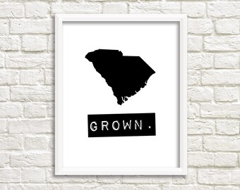 South Carolina home signs, custom map art, black and white wall art, South Carolina decor, personalized gifts, South Carolina state print