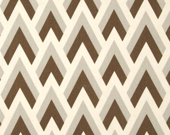 2 Pillow Covers 18x18 inch-Free US Shipping- Zap in Chocolate Brown/Natural