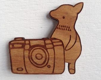 Wooden Brooch - Lil Guy