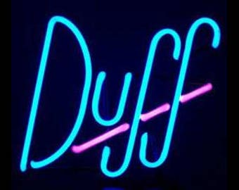 Duff Real Neon Art Sculpture Sign