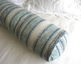 Frascati blues bolster pillow 7x27  insert included