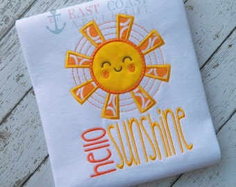 HELLO SUNSHINE machine embroidery design