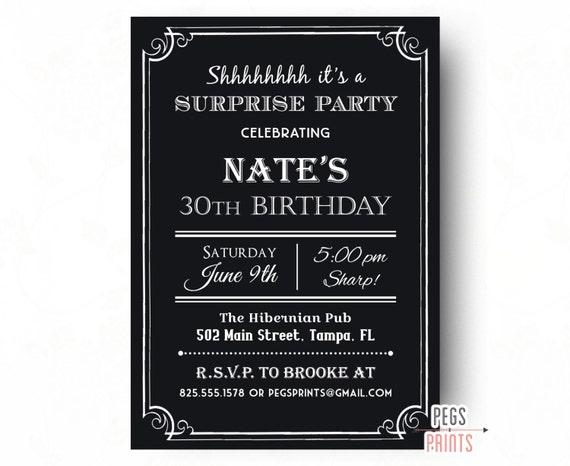 Sorpresa adultos cumplea os invitaci n 40 a invitaci n de - Cumpleanos sorpresa adultos ...