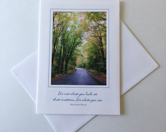 Wisconsin Road Photo Note Card Blank Inside Inspirational Quote