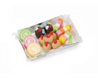 Miniature Candy Tray ~ Dollhouse Food ~ Diorama ~ Fairy Garden