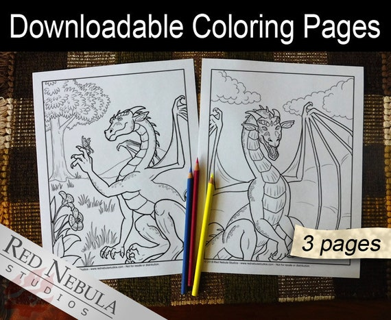 Dragon Coloring Pages For Adults Pdf : Coloring pages shella the dragon young adult coloring