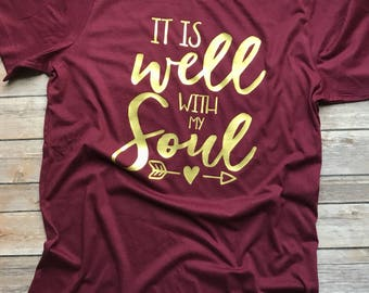 It Is Well With My Soul Short Sleeve Tshirt