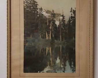 Vintage Mountain Lake Photo Print